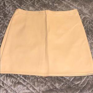 Tan Leather Forever21 Skirt